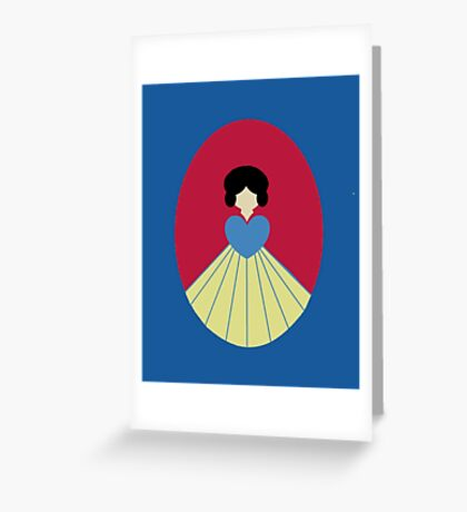 Simplistic Princess #6 Greeting Card