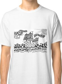 Zentangle ship Classic T-Shirt