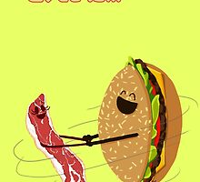 Love is... hamburger and bacon by ciaca