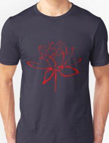 Lotus Flower Calligraphy (Red) Unisex T-Shirt