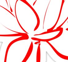Lotus Flower Calligraphy (Red) Sticker