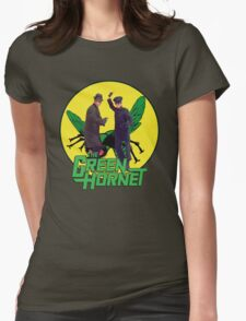 Funny Green Hornet Womens Fitted T-Shirt