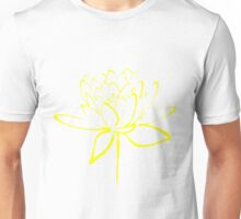 Lotus Flower Calligraphy (Yellow) Unisex T-Shirt