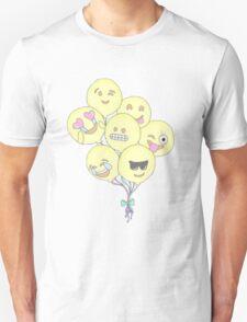 Emoji balloons Unisex T-Shirt