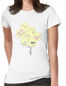 Emoji balloons Womens Fitted T-Shirt