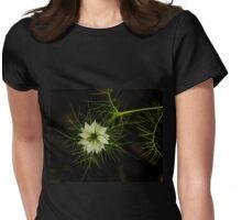 Nutmeg Flower 2 Womens Fitted T-Shirt