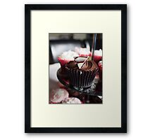 Mouth Watering Chocolate Cupcake  Framed Print