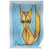Abstract Red Fox Poster