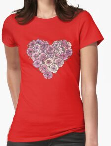 Pinks Heart Womens Fitted T-Shirt