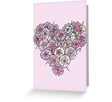 Pinks Heart Greeting Card