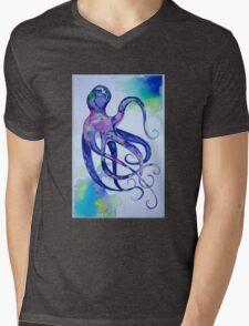 Octopus Watercolor Mens V-Neck T-Shirt
