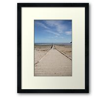 Pier to the Sea Framed Print
