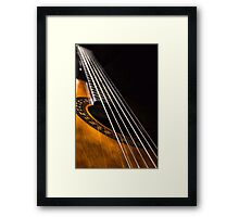 Acoustic Framed Print