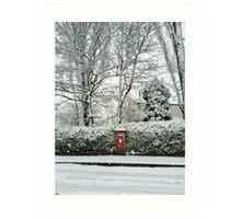Snowy post box Art Print