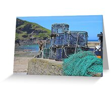 Lobster Catchers Greeting Card