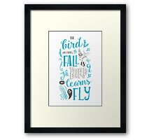 The Bird Who Dares To Fall Framed Print