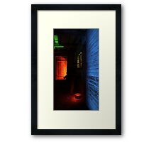 24.1.2016: Light Painted Cowshed Framed Print