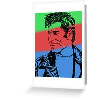 Color Travolta Greeting Card