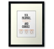 Tea Pajamas Candles Cookies Framed Print
