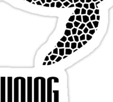 Endangered Wildlife - Drowning Existence Black on White Sticker