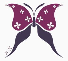 Butterfly and flowers Kids Tee