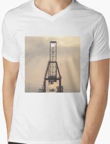 Container Crane Mens V-Neck T-Shirt