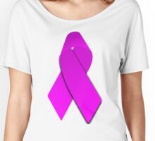 Pink Breast Cancer Ribbon Women's Relaxed Fit T-Shirt