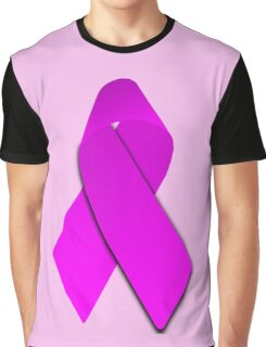 Pink Breast Cancer Ribbon Graphic T-Shirt