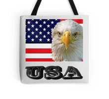 Flag and Eagle  Tote Bag