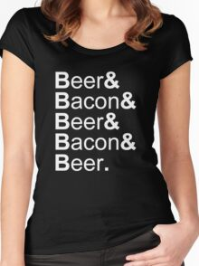 Beer&Bacon&Beer&Bacon... Women's Fitted Scoop T-Shirt