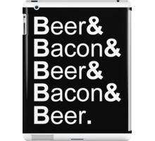 Beer&Bacon&Beer&Bacon... iPad Case/Skin