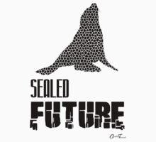 Endangered Wildlife - Sealed Future Black on White Baby Tee
