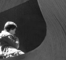 Child inside sculpture, Southbank, Melbourne Sticker
