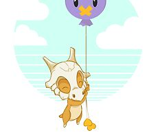 Cubone and his Balloon by Kat Smith
