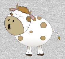 Cute Moo Cow Cartoon Animal One Piece - Long Sleeve