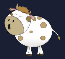 Cute Moo Cow Cartoon Animal One Piece - Short Sleeve