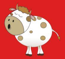 Cute Moo Cow Cartoon Animal Kids Tee