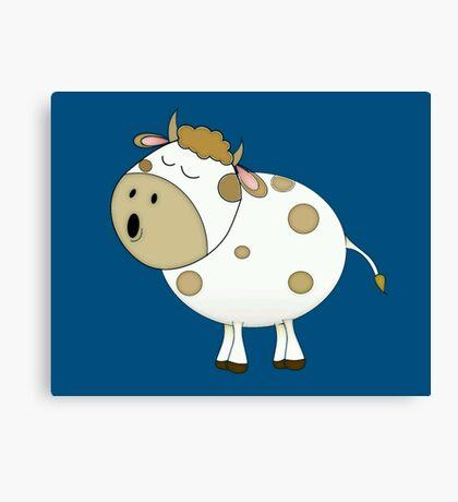 Cute Moo Cow Cartoon Animal Canvas Print