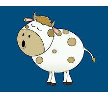 Cute Moo Cow Cartoon Animal Photographic Print