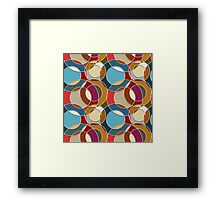 Cool Colorful Circles Pattern Framed Print