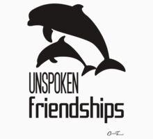 Endangered Wildlife - Unspoken Friendships Black on White One Piece - Long Sleeve