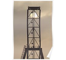 Container Crane with Sun Poster