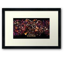 leauge of legends Framed Print