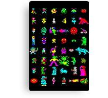 BBC Micro Heroes and Villains Canvas Print