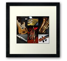 Swing That Music Collage Framed Print