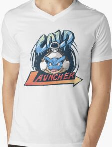 GPL Logo - Cold Launcher Mens V-Neck T-Shirt