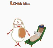 Love is... egg and sausage Kids Clothes