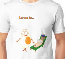 Love is... egg and sausage Unisex T-Shirt