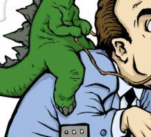 Godzilla Riding Nicholas Cage Sticker