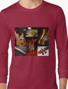 Swing That Music Collage Long Sleeve T-Shirt